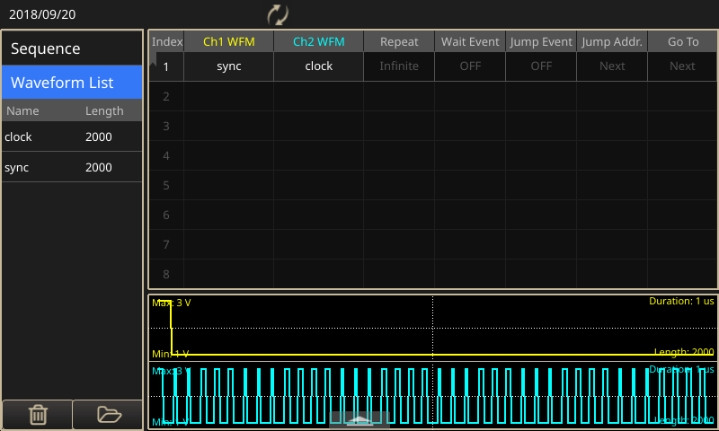 Generate  clocks and triggering pulses with the AFG31000 arbitrary function generator